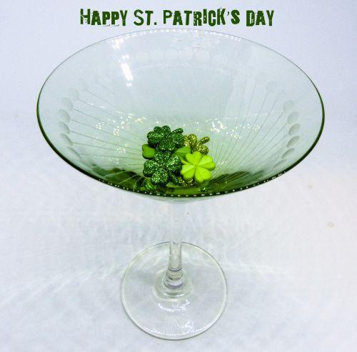 St. Patricks Day Martini Glass