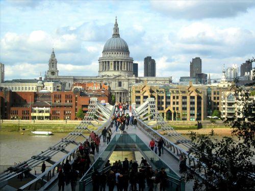st paul's cathedral millennium bridge thames