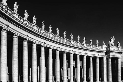 st peter's basilica columnar antique