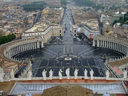 st peter's square st peter's basilica rome