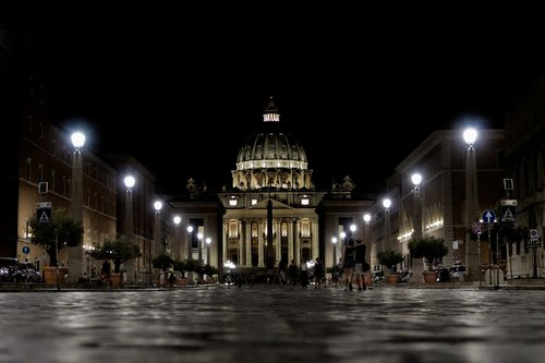 st peter's square  rome  italy