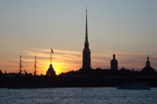 st petersburg evening in the city architecture
