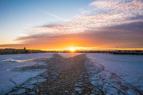 st petersburg sunset russia