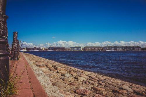 st petersburg russia river quay