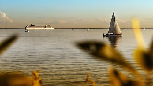 st petersburg russia  sea  ship