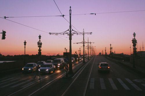 st petersburg russia bridge white nights