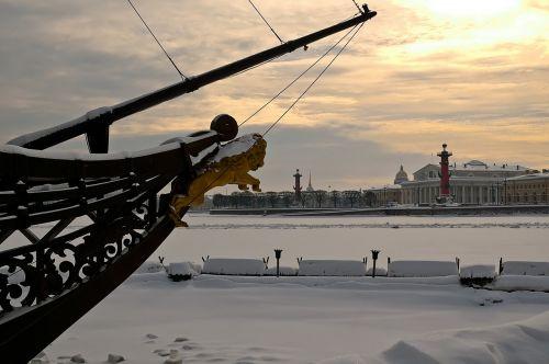 st petersburg russia vasilievsky island arrow