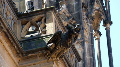 st vitus cathedral gargola gargoyle