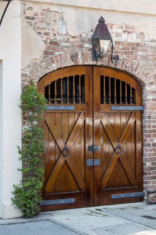 stable doors brick building