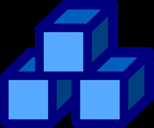 stack blocks blue