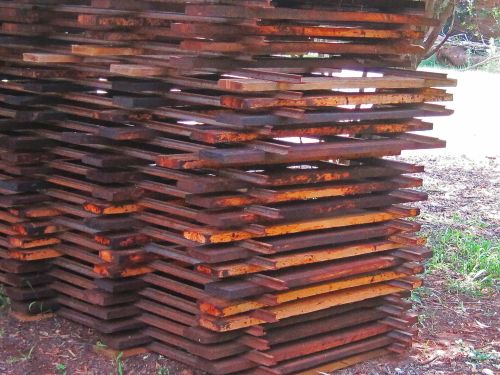 Stack Of Unused Railway Sections