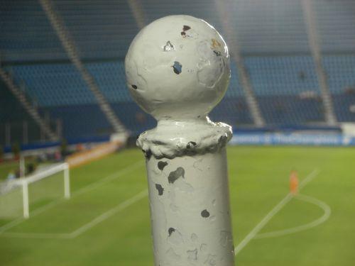 stadium blue stadium post