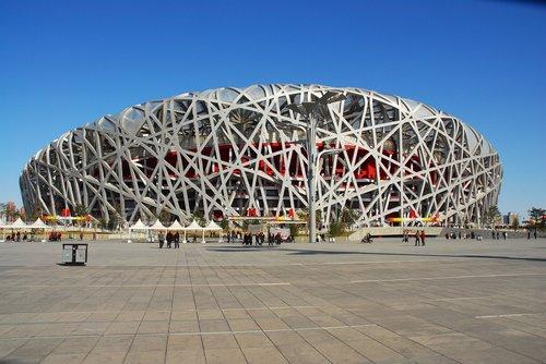 stadium  birds nest  olympic stadium