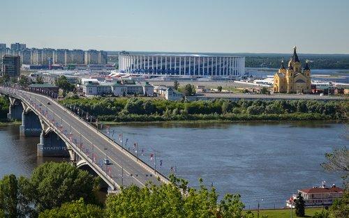 stadium  nizhniy novgorod  russia