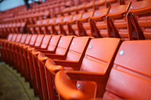 stadium  seats  orange