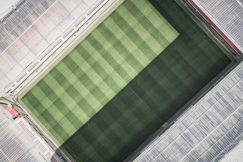 stadium arena aerial view
