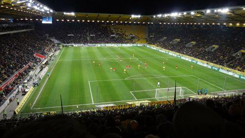 stadium playing field viewers