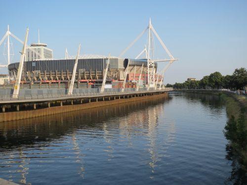stadium cardiff river