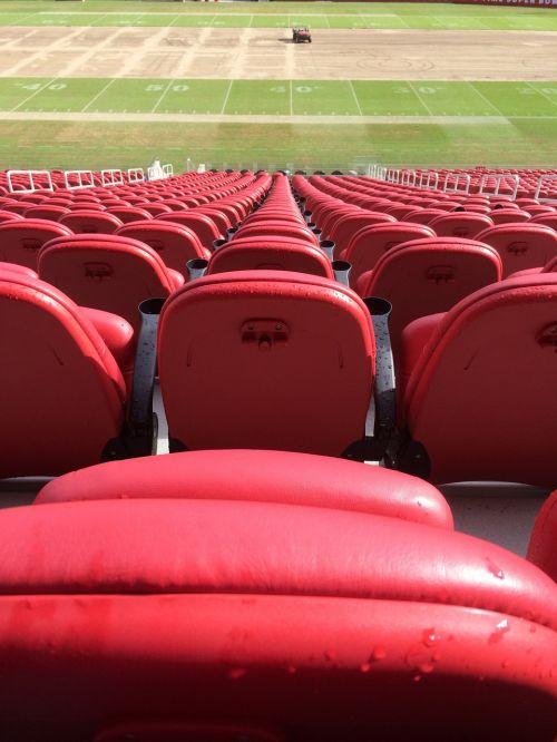 stadium seats red stadium