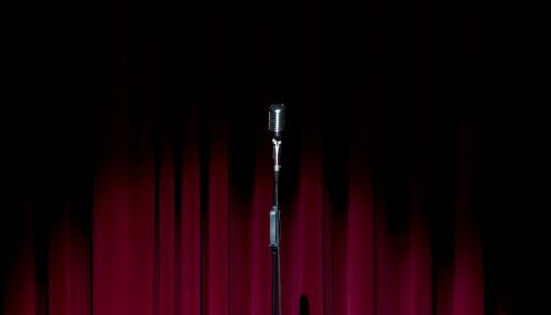 stage curtain microphone