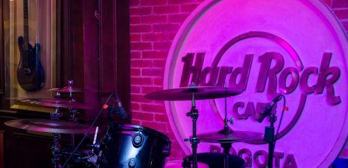 stage hard rock cafe drums