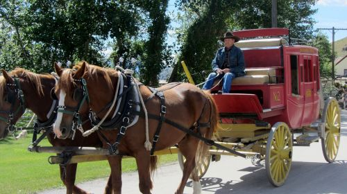 stagecoach wild west horses