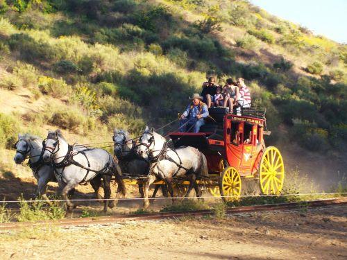 stagecoach wild west cowboys