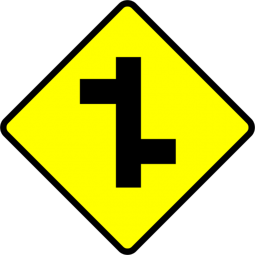 staggered intersection junction staggered