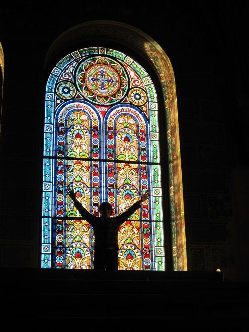 stain glass window jewish synagogue glass