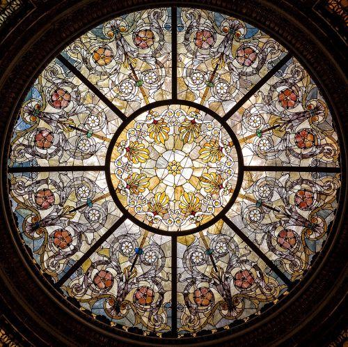 stained glass window glass