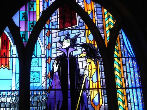 stained glass stepmother fairy tale
