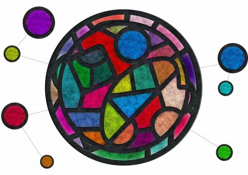 stained glass color texture