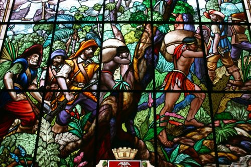 stained glass indians bandeirantes