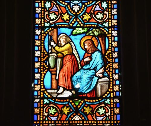 stained glass cathedral of dol de bretagne church