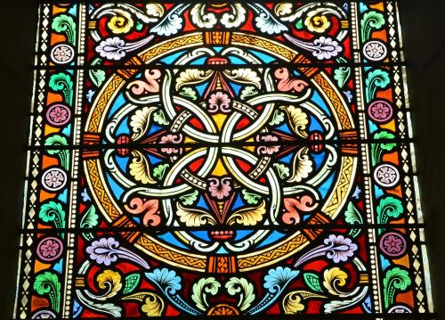 stained glass colored glass made of glass