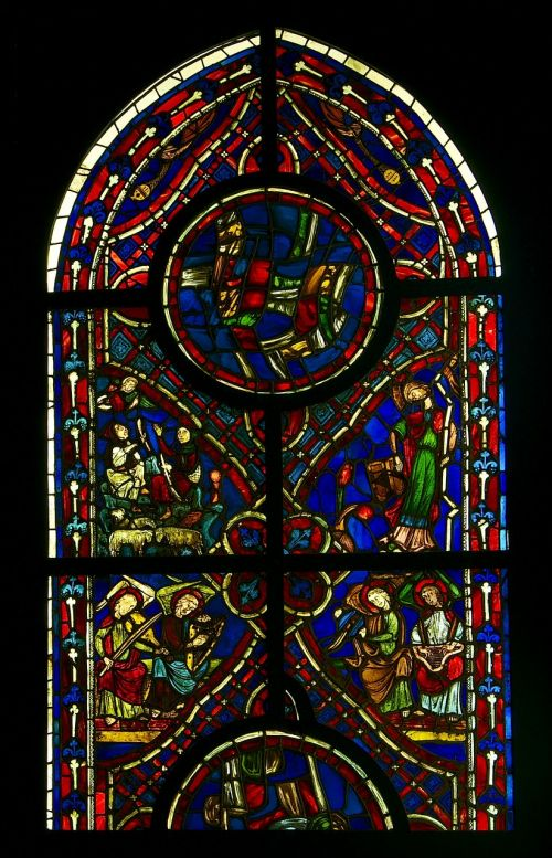 stained glass window gothic