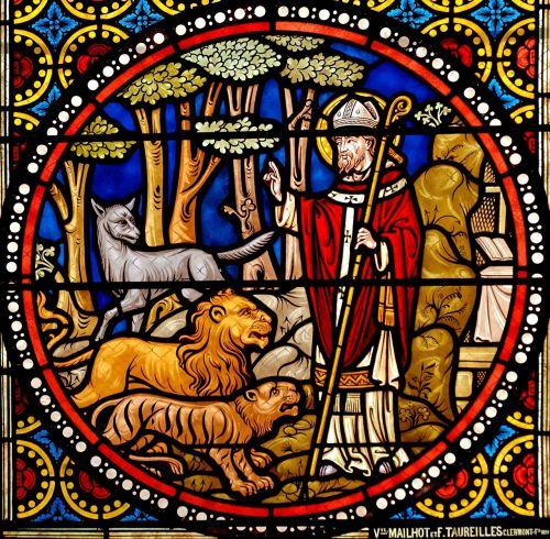 stained glass window glass st austremonius