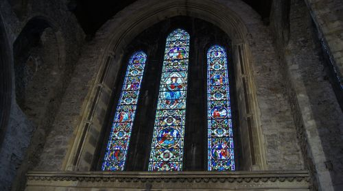 stained glass st mary's cathedral church