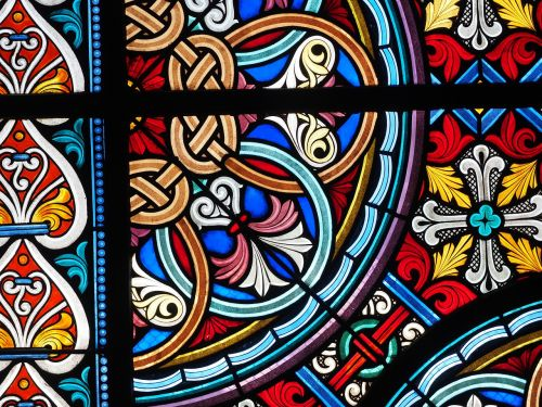 stained glass window colorful