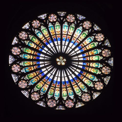 stained glass cathedral rosette