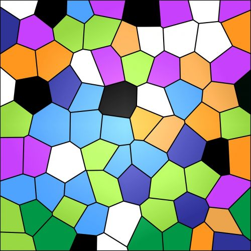 stained glass colourful pattern