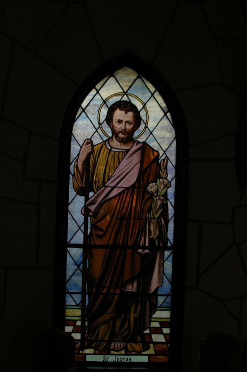 stained-glass stained glass st joseph