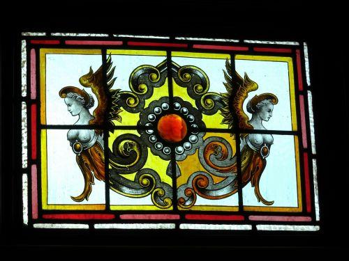 langas, langai, dažytos, stiklas, senas, Senovinis, klasikinis, victorian, menas, menai, meno, dažytos, dažyti, vitražas