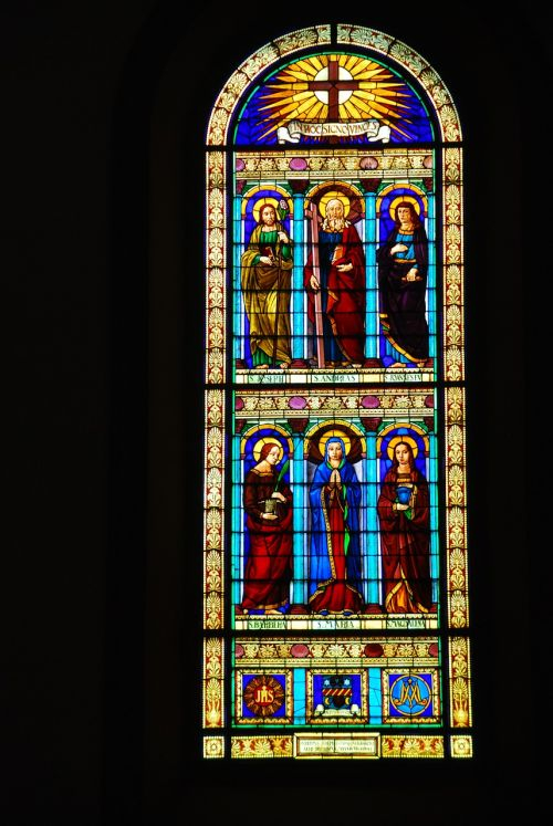 stained glass window church color