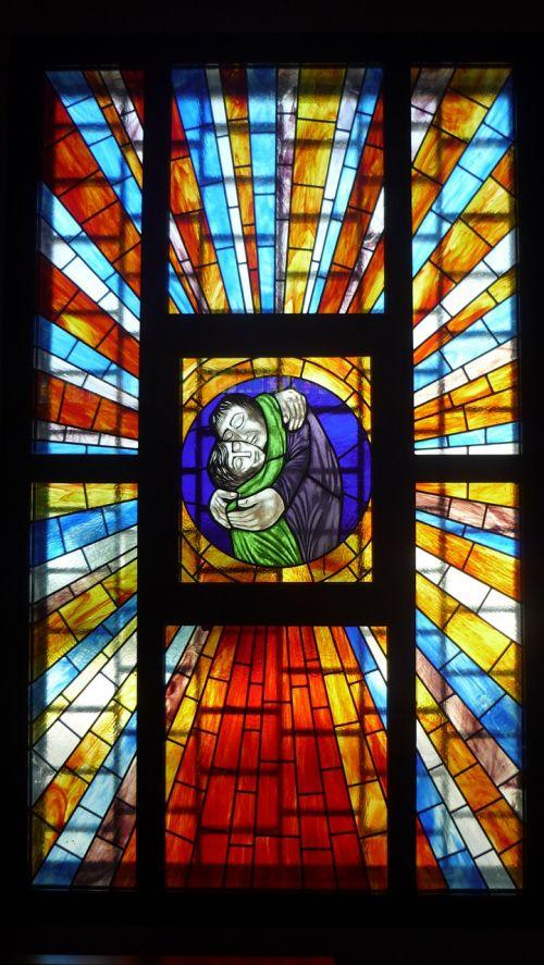 stained glass window church parish
