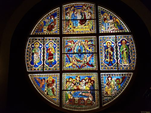 stained glass window art cathedral