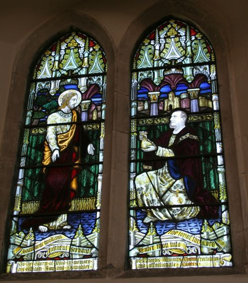 stained glass window chartham st mary's
