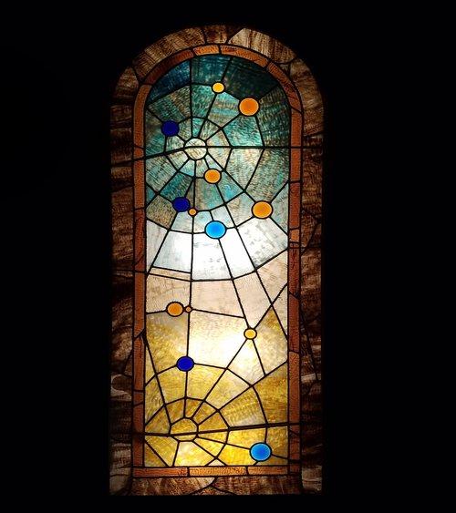 stained glass window  vintage window  glass