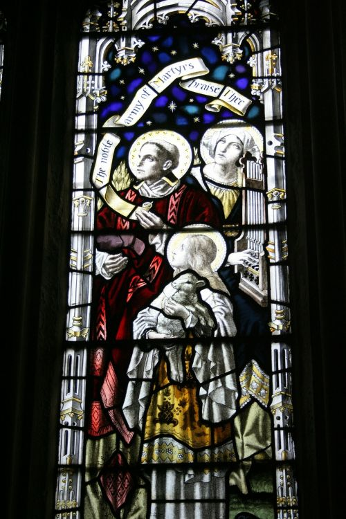 stained glass window st michael's church sittingbourne