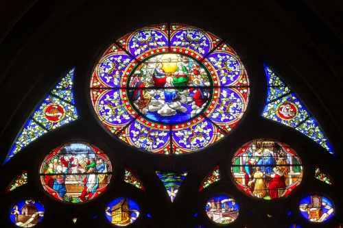 stained glass windows church religion